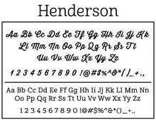 Henderson Rectangle Personalized Self Inking Return Address Stamp font