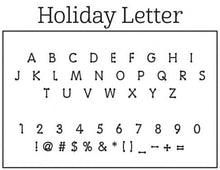 Holiday Letter Stamp