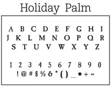 Holiday Palm Stamp