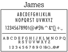 James Personalized Self-inking Round Return Address Stamp Font