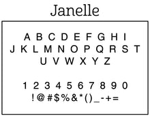 Janelle Personalized Self-inking Round Return Address Stamp on Envelope