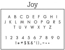 Joy Personalized Self-inking Round Return Address Stamp Font