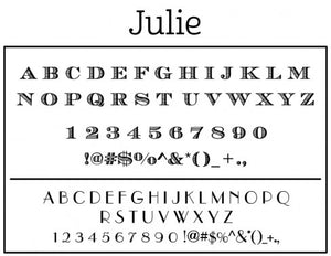 Julie Personalized Self-inking Round Return Address Stamp Fonts
