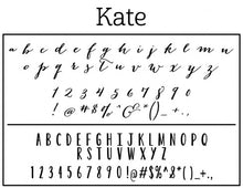 Kate Personalized Self-inking Round Return Address Design Fonts