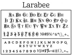 Larrabee Personalized Self-inking Round Return Address Stamp on Envelope