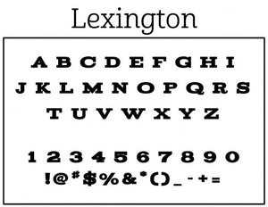 Lexington Personalized Self-inking Round Return Address Stamp on Envelope