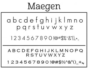 Maegen Personalized Self-inking Round Return Address Stamp Font