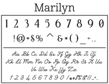Marilyn Personalized Self-inking Round Return Address Stamp Font