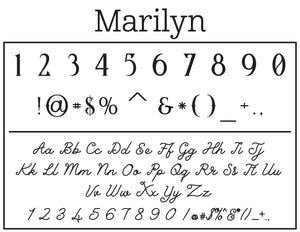 Marilyn Personalized Self-inking Round Return Address Stamp on Envelope