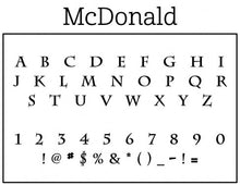 McDonald Rectangle Personalized Self Inking Return Address Stamp font