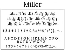 Miller Personalized Self-inking Round Return Address Design on Envelope