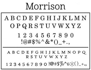 Morrison Personalized Self-inking Round Return Address Design Font