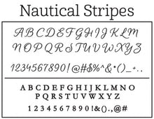 Kelly Hughes Natuical Stripes Personalized Self-inking Round Return Address Stamp Font
