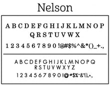 Nelson Personalized Self-inking Round Return Address Design on Envelope