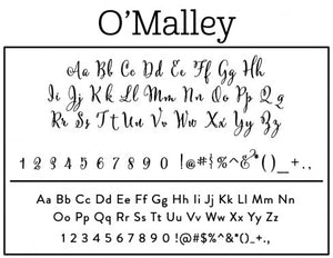 OMalley Return Address Self Inking Stamp font