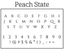 Peach Personalized Self-inking Round Return Address Design Font