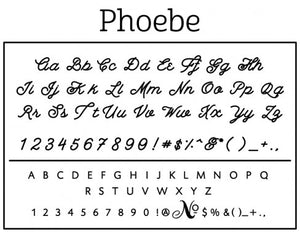 Phoebe Personalized Self-inking Round Return Address Design Font