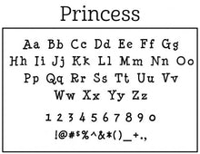 Princess Personalized Self-inking Round Return Address Design on Envelope