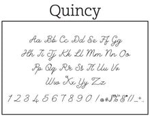 Quincy Rectangle Personalized Self Inking Return Address Stamp font