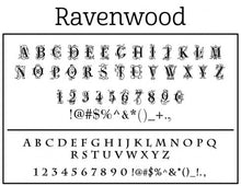 Ravenwppd Rectangle Personalized Self Inking Return Address Stamp font
