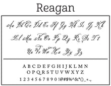 Reagan Rectangle Personalized Self Inking Return Address Stamp font