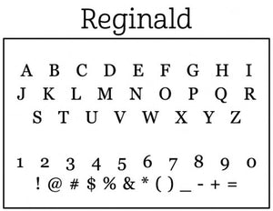 Reginald Personalized Self-inking Round Return Address Design Font