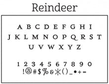 Reindeer Personalized Self-inking Round Return Address Design Font