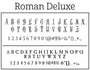 Roman Personalized Self-inking Round Return Address Stamp Font