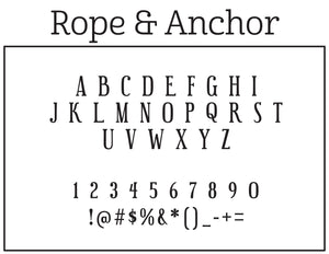 Rope & Anchor Stamp