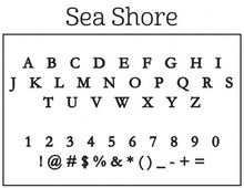 Kelly Hughes Sea Shore Personalized Self-inking Round Return Address Stamp Font