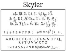 Skyler Personalized Self-inking Round Return Address Stamp Font