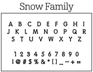 Snow Family Stamp