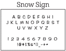 Snow Personalized Self-inking Round Return Address Stamp Font