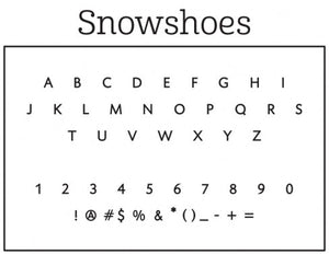 Snowshoes Holiday Personalized Self-inking Round Return Address Stamp Font