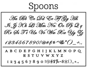 Spoons Personalized Self-inking Round Return Address Stamp Font
