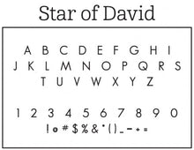 Star Personalized Self-inking Round Return Address Stamp on Envelope