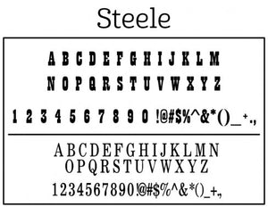 Steele Personalized Self-inking Round Return Address Stamp on Envelope