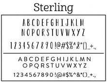 Sterling Personalized Self-inking Round Return Address Stamp Font
