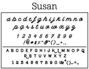 Susan Rectangle Personalized Self Inking Return Address Stamp font