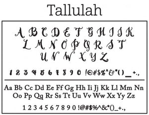 Tallulah Personalized Self Inking Return Address Stamp font