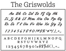 The Personalized Self-inking Round Return Address Stamp Font