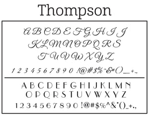 Thompson Personalized Self Inking Return Address Stamp Font