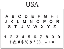 Usa Personalized Self-inking Round Return Address Stamp Font