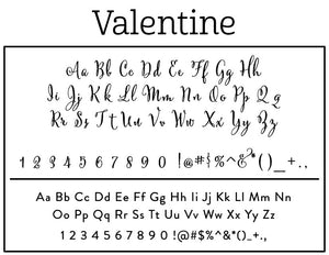 Valentine Return Address Self Inking Stamp Fonts