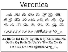 Veronica Personalized Self Inking Return Address Stamp font