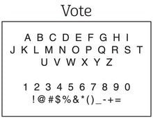 Vote Personalized Self-inking Round Return Address Stamp on Envelope