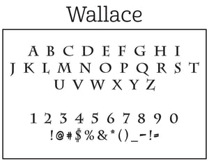 Wallace Personalized Return Address Embosser Font