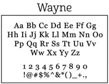 Wayne Rectangle Personalized Return Address Stamp font