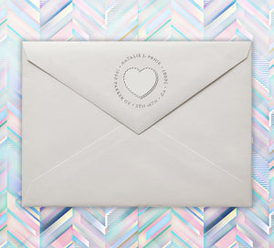 Fancy Heart Return Address Embosser