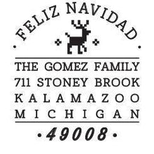 Feliz Personalized Self-inking Round Return Address Stamp on Envelope